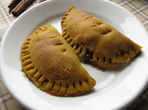 Pumpkin Empanadas with apple cinnamon filling