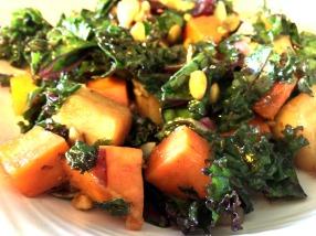 Warm kale salad - bright