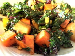 Warm kale salad - bright