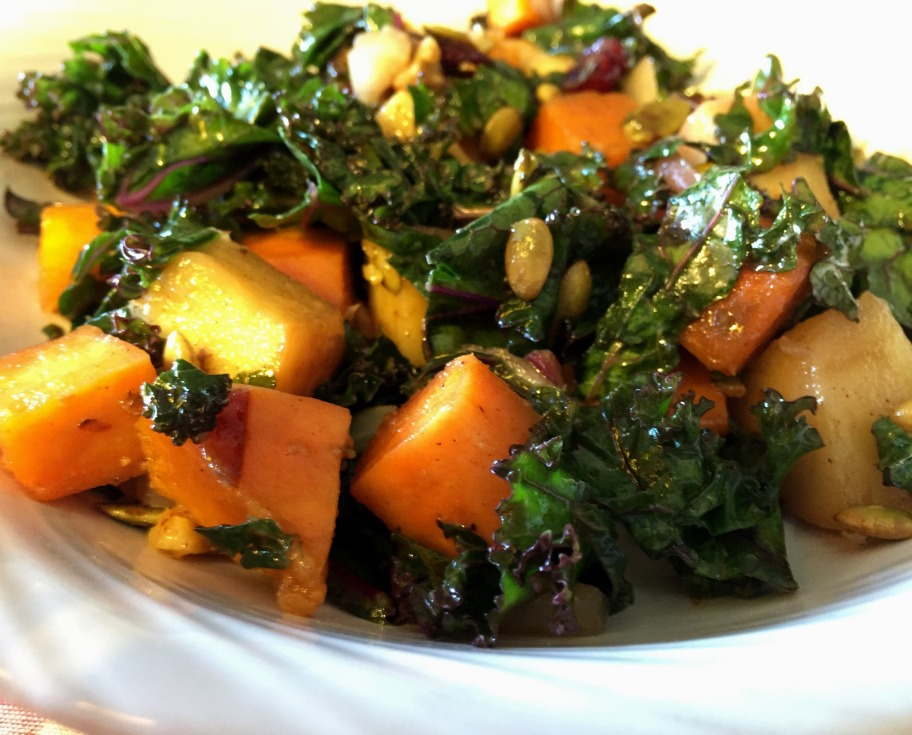 warm kale salad - edited