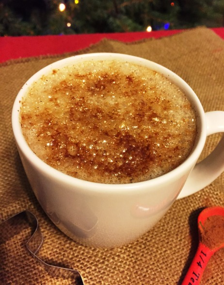 gingerbread steamed milk (from top)
