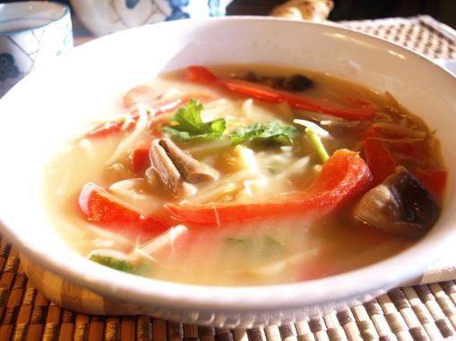 shoot and shroom soup