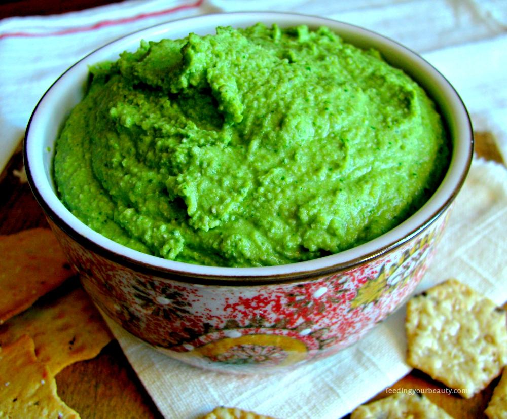 Glowing Green Hummus
