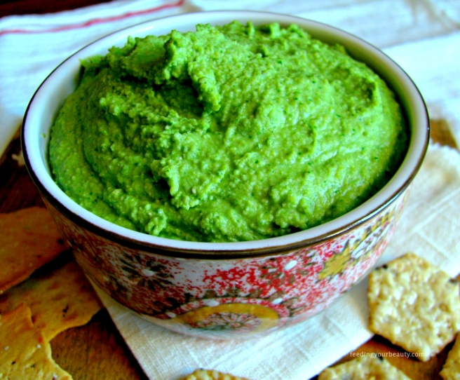 Glowing Green Hummus