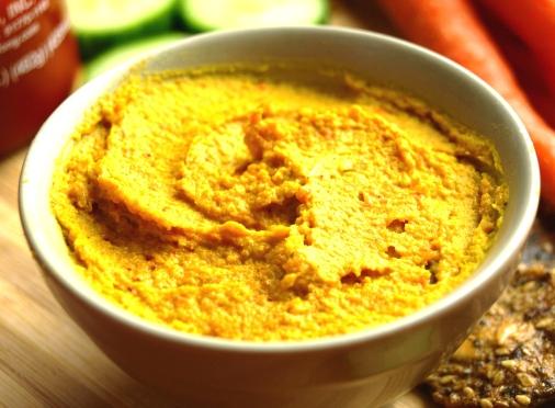 carrot sriracha hummus