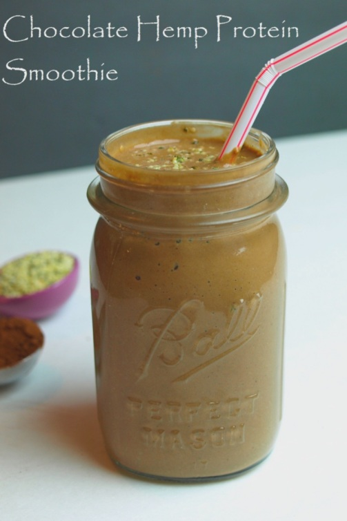 Vegan Chocolate Hemp Protein Smoothie