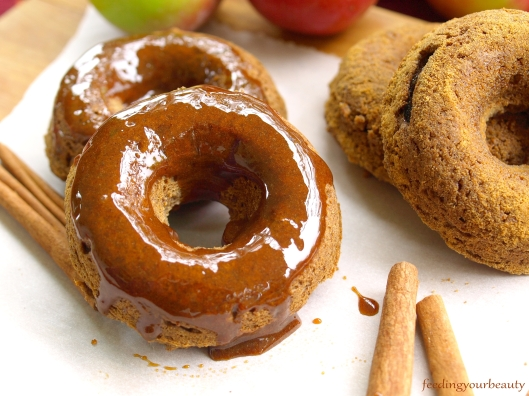 apple cinnamon vegan gluten free donuts