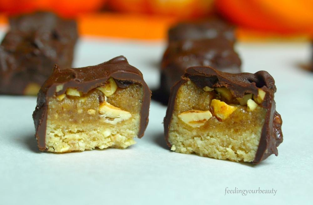 vegan snickers minis