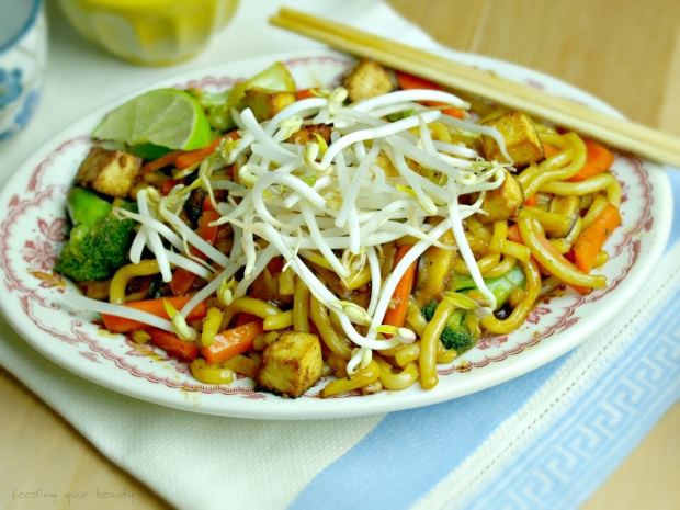Vegan Japanese Pan Fried Noodles