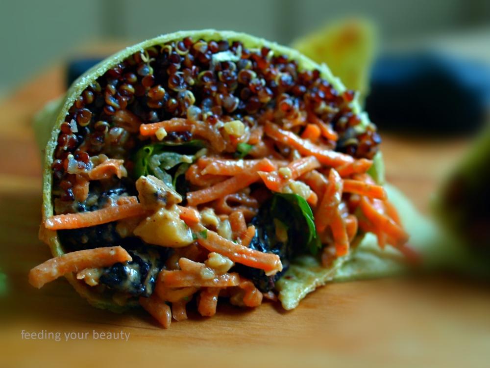 carrot salad wrap 2
