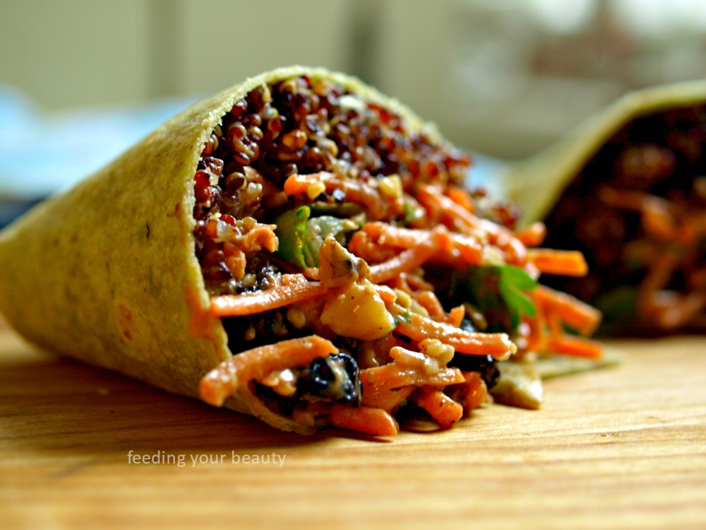 carrot salad wrap