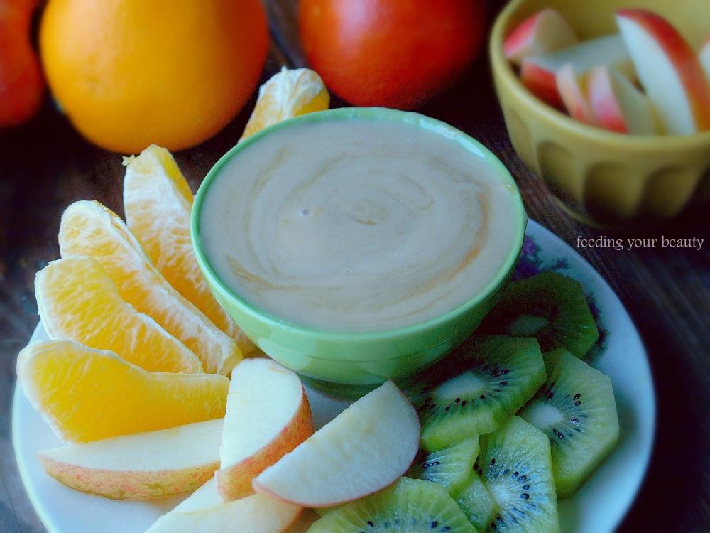 fruit dip tahini