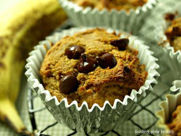 pb and banana muffins