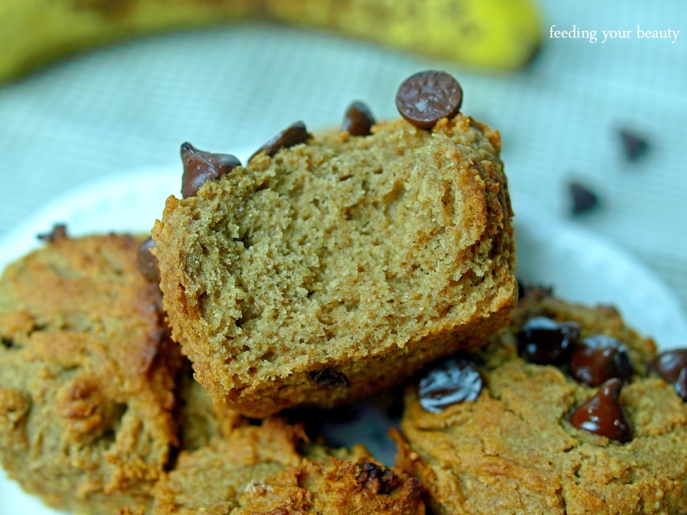 pb banana buckwheat muffins