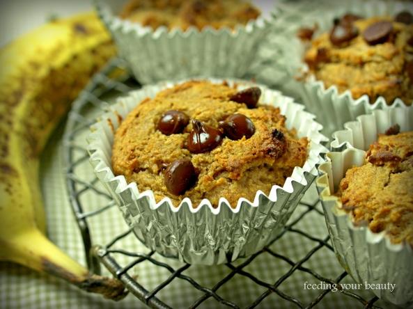peanut butter buckwheat banana muffins