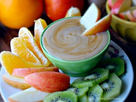 tahini maple fruit dip