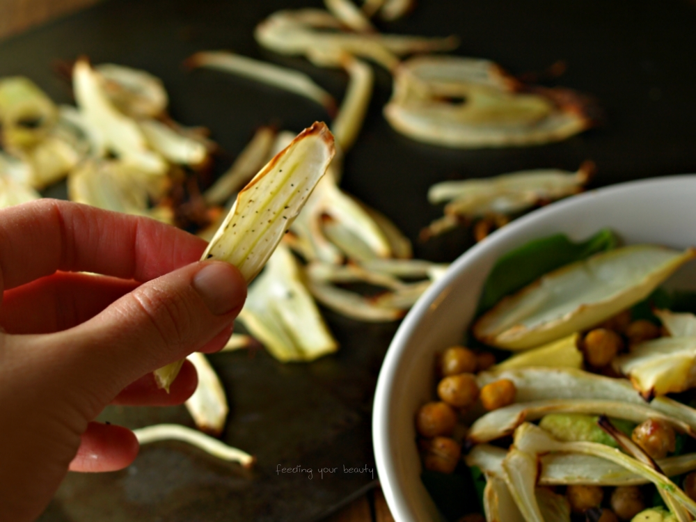 roasted fennel in hand