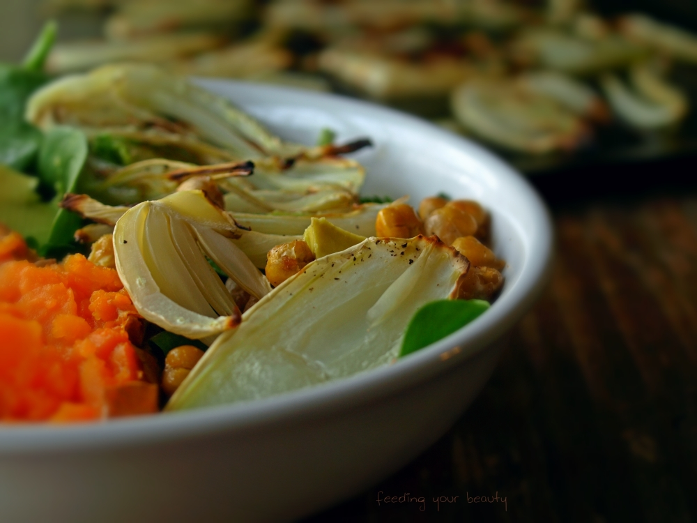 roasted fennel salad bowl