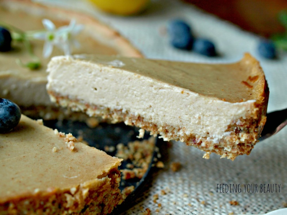 Baked Lemon Cheesecake - Vegan and Gluten Free