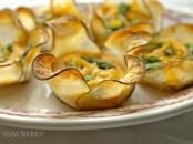 potato blossoms with asparagus