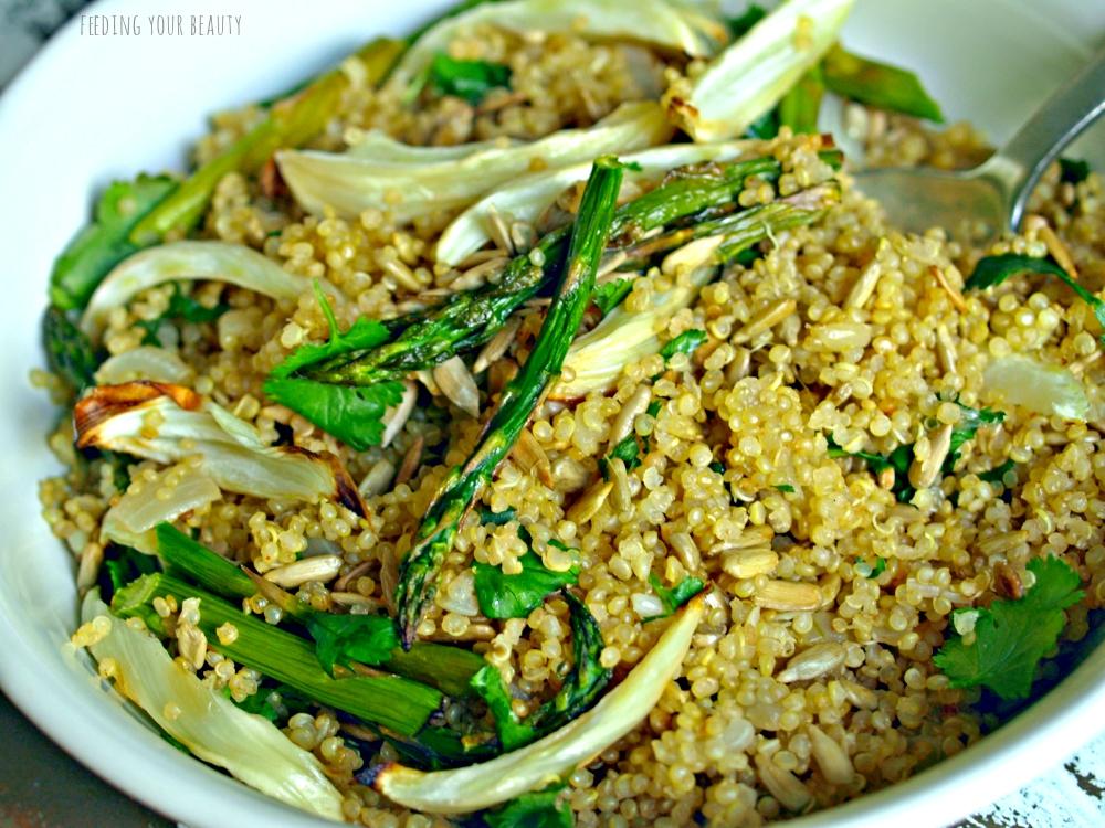 quinoa pilaf with asparagus
