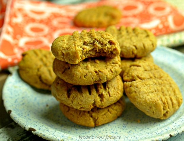 peanut butter cookie stack