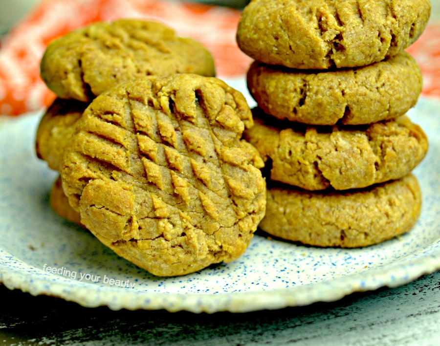 peanut butter cookie stacks