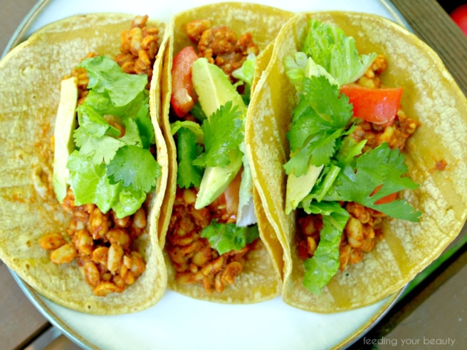 tempeh tacos from top
