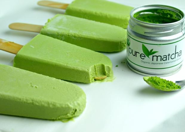 Creamy Vegan Matcha Green Tea Popsicles - Sugar-free and Dairy-free