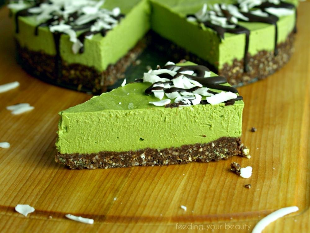 Matcha Vanilla Cheesecake (vegan, gluten-free)