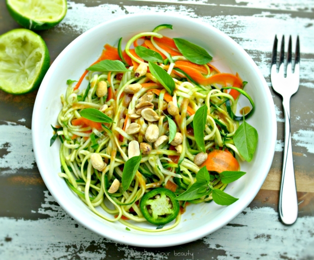 peanut zoodles from top