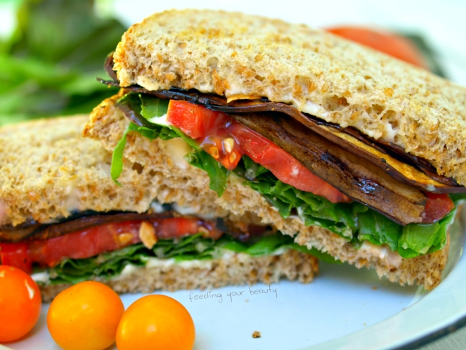 Vegan BLT with Oil-Free Smoky Portobello Strips