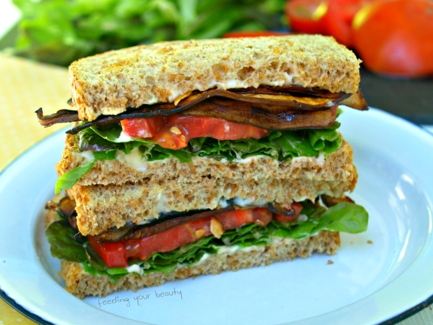 Vegan BLT with Smoky Portobello Strips