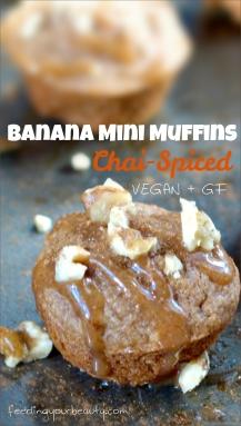 Chai Spiced Banana Mini Muffins (v + gf)