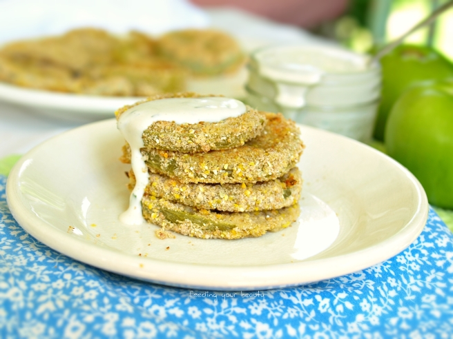 "Oven ""Fried"" Green Tomatoes (Vegan + Gf)"