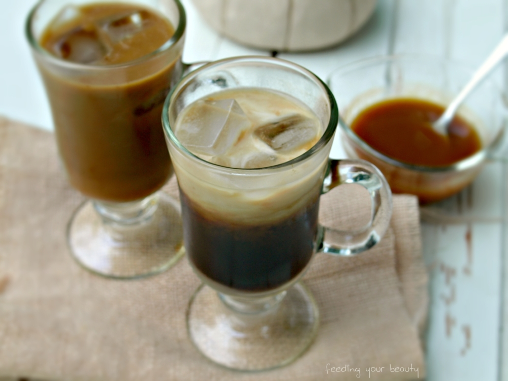 5 Minute Iced Pumpkin Spice Latte - Vegan, Refined Sugar Free
