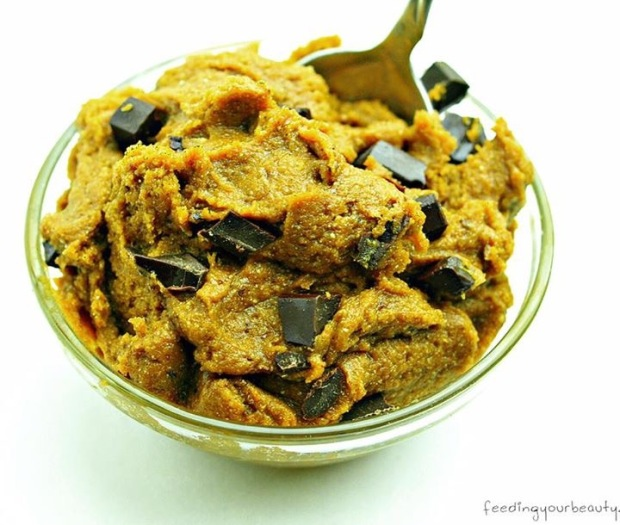 Pumpkin Chocolate Chip Cookie Dough - 3 Ways (vegan, gluten free, oil free)