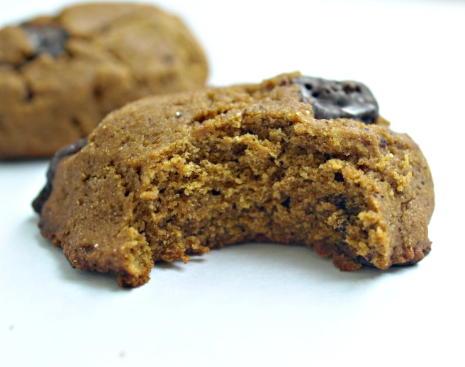 Pumpkin Chocolate Chunk Cookies - vegan, gluten free, oil free