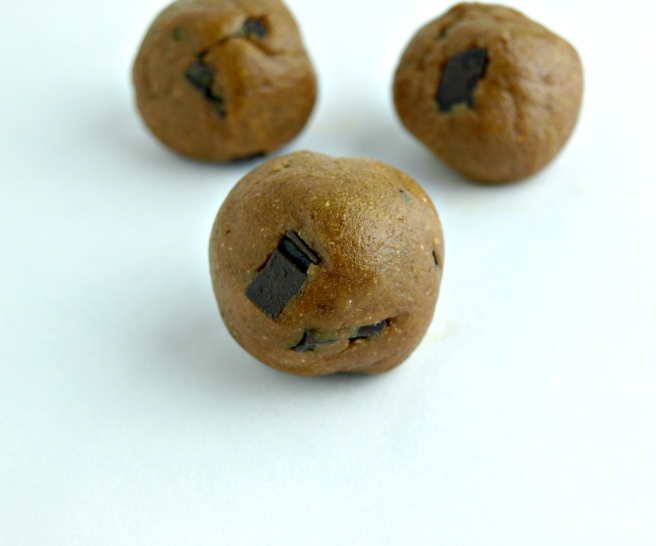 Pumpkin Chocolate Chip Cookie Dough - Vegan, Gluten-Free, Oil-Free