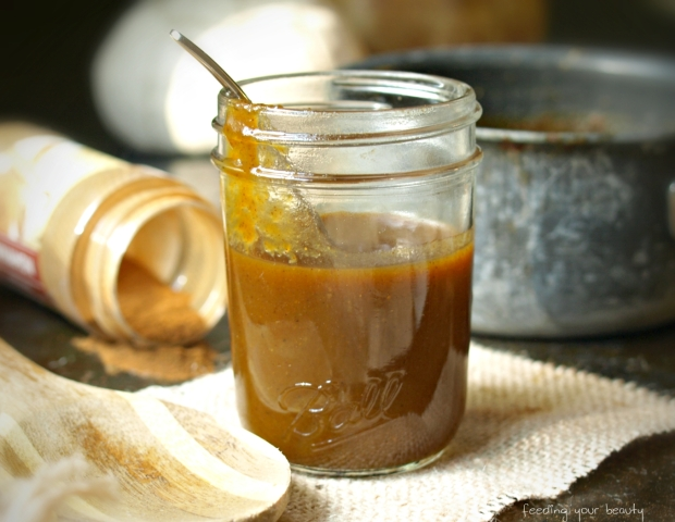 Homemade Healthier Pumpkin Spice Latte Syrup (vegan and refined sugar-free)