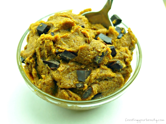 Pumpkin Chocolate Chunk Cookie Dough - Vegan, Gluten Free