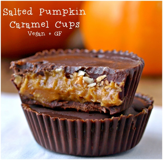 Salted Pumpkin Caramel Dark Chocolate Cups – Vegan and Gluten Free