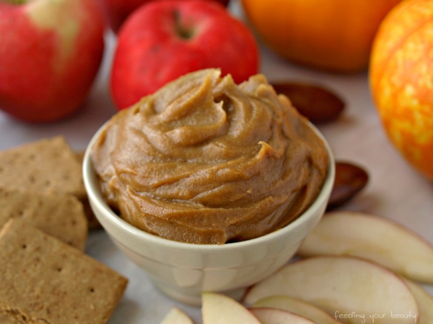 Salted Caramel Pumpkin Dip - Vegan, Low Fat, Oil Free, Refined Sugar Free