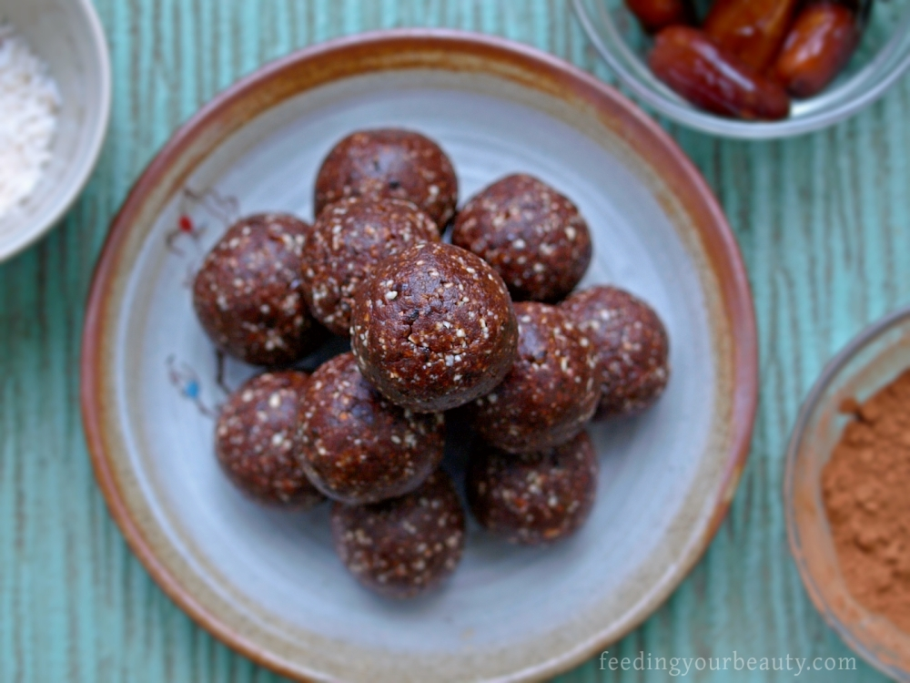 Chili Mocha Brownie Power Bites - Vegan, Gluten Free, Grain Free