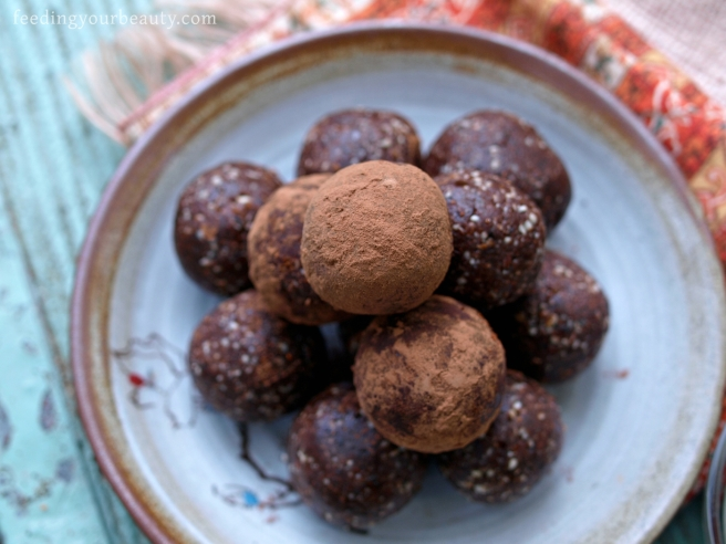 Chili Mocha Brownie Bites - Vegan, Gluten Free, Grain Free, Refined Sugar Free