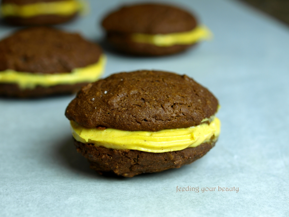 Gingerbread Whoopie Pies with Pumpkin Cream Filling - Vegan and Gluten Free