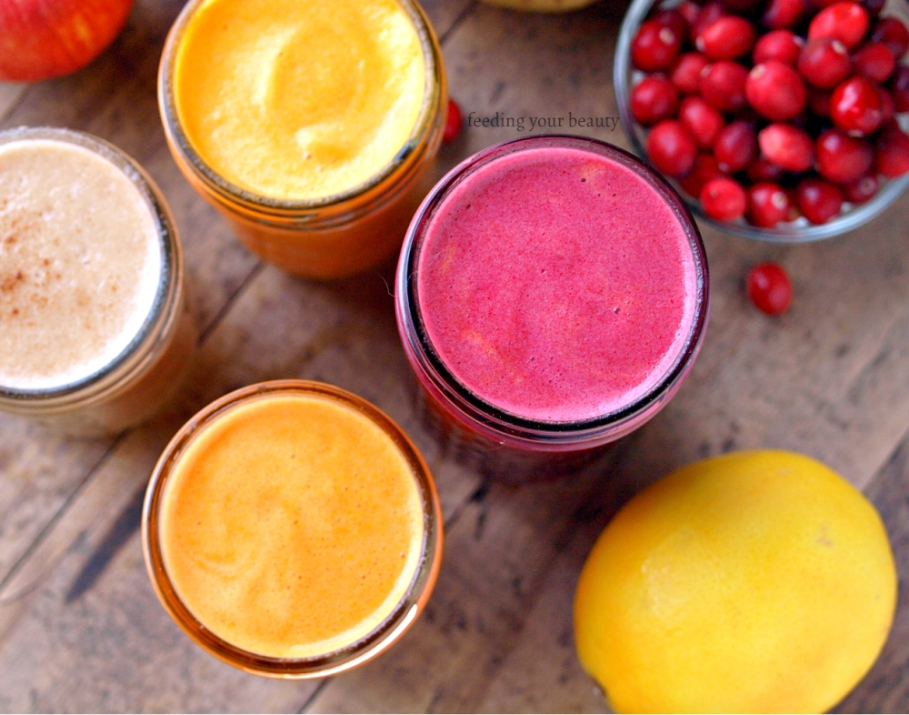 Four Fresh Juices for Winter