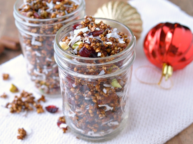 Holiday Gingerbread Buckwheat Granola - Naturally Sweetened, Vegan, Gluten Free