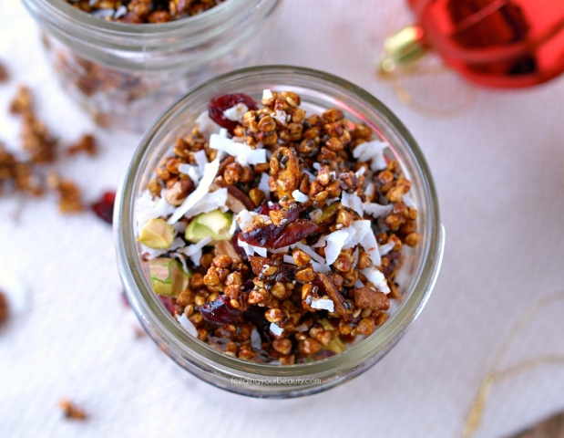 Holiday Gingerbread Buckwheat Granola - Naturally Sweetened, Vegan, and Gluten Free