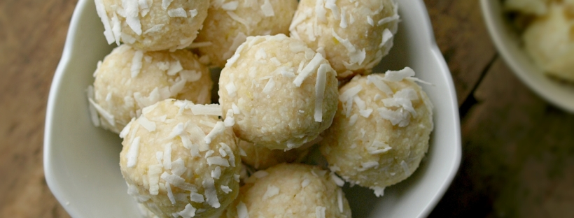 Raw White Chocolate Lemon Macaroons - Vegan, Gluten Free, Grain Free, Refined Sugar Free